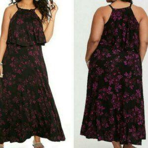 Torrid Black Maxi Jersey Plus Size Dress Size 1X